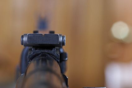 Tips for sighting in a rifle or handgun with open sights